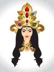 Shubh Navratri God Durga vector Illustration