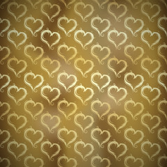 Golden Hearts Pattern