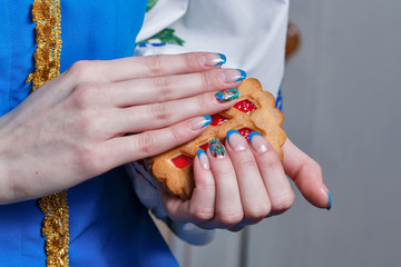 Female hands with nice manicure
