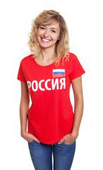 Lachende junge Frau aus Russland