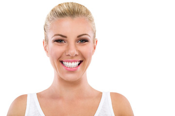 Portrait of smiling woman great teeth