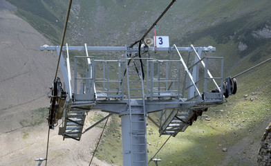 Detail of a chairlift mechanism