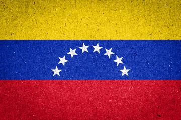 Venezuela flag on paper background