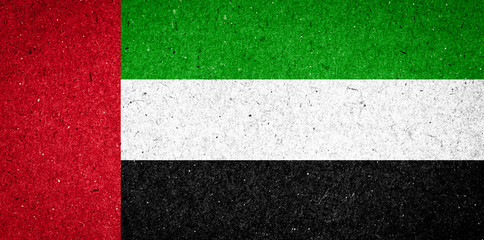 United Arab Emirates flag on paper background