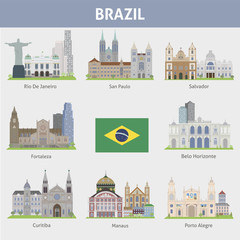 Brazil. Symbols of cities