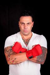 Portrait eines Kampfsportlehrer