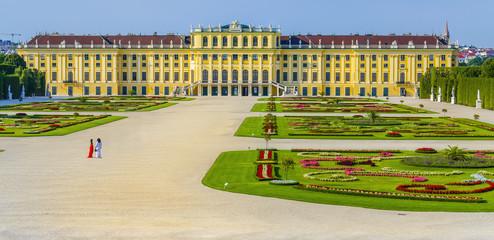 Amazing view of Schonbrunn Palace, Vienna, Austria