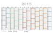Jahreskalender bunt imcl Kalenderwochen