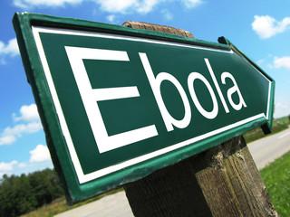 Ebola road sign