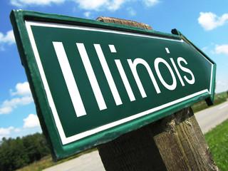 Illinois road sign