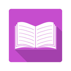 Flat design icon. Book