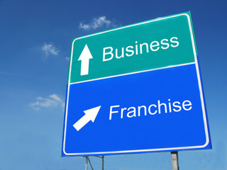 Business-Franchise road sign