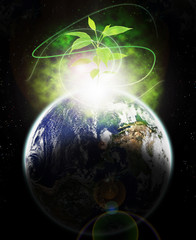 New Ecologic era rising with flare-Elements of this image furnis
