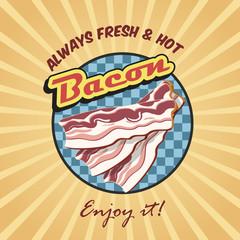 Bacon retro poster