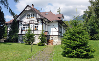 traditional building in the mountains, Slovakia, Europe
