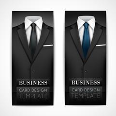 Businessman suit invitation collection