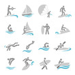 Water sports icons set - 70172651