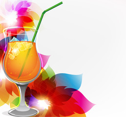 Cocktail and flowers