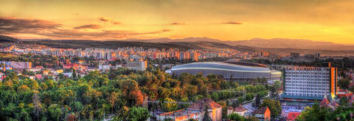 Panorama of Cluj-Napoca with stadium - Romania