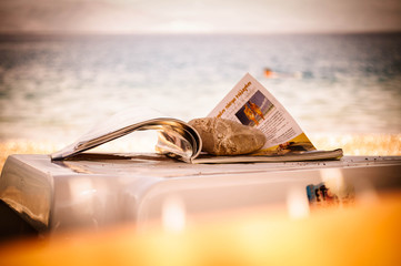 Magazine on a beach