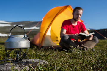 camping stove and camper
