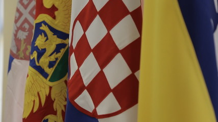 Flags of Bosnia, Croatia, Serbia and Montenegro