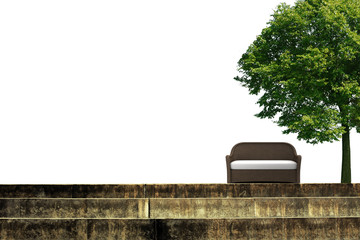 stairs and tree sofa