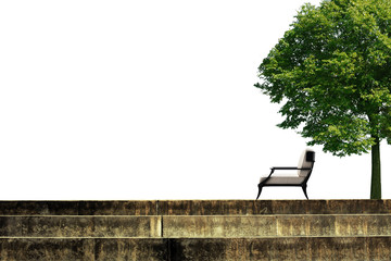 stairs and tree chair