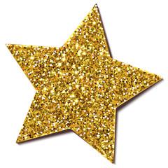 Weihnachtsstern Glitter/Gold