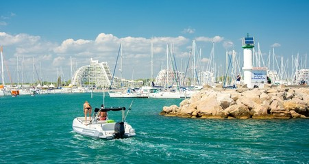 Port de la Grande Motte en France
