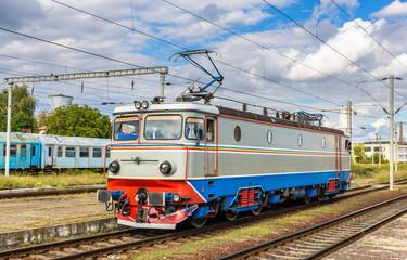 Locomotive in Cluj-Napoca station, Romania