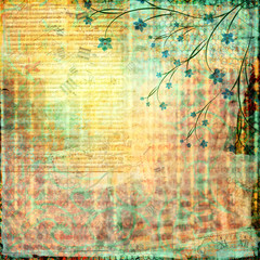 Abstract beautiful background in the style of mixed media with f