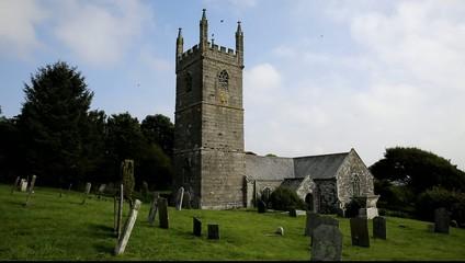 Cornish church of St Mawgan in Meneage Cornwall England