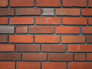 detail of red brick wall