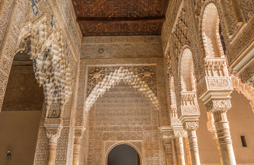 Walls of Alhambra Palace in Granada Spain