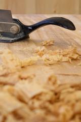 Spokeshave Sapele Hardwood Board Chip Shavings