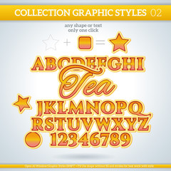 Tea Graphic Styles for Design. use for decor, text, title, cards