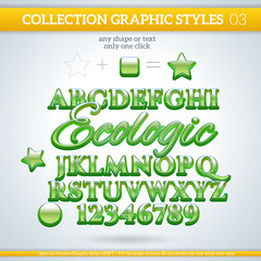 Ecologic Graphic Styles for Design. use for decor, text, title,