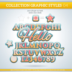 Hello Graphic Styles for Design. use for decor, text, title