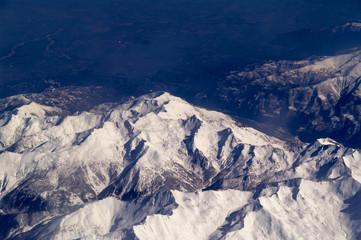 Bergspitze in den Alpen