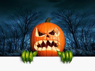 Demon Pumpkin Sign