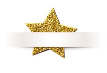 Papier- Banderole mit Glitter - Stern