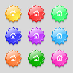 Home sign icon. Main page button. Navigation symbol.Set