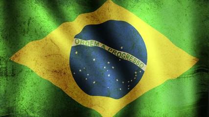 Brazilian Flag - looping, waving