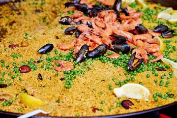 Paella ready to eat