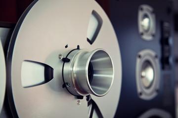 Analog Stereo Open Reel Tape Deck Recorder Spool