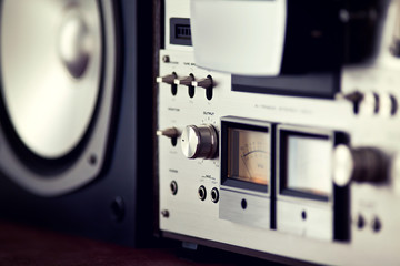 Analog Output Control of Stereo Open Reel Deck