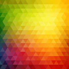 Retro mosaic pattern of geometric triangle shapes