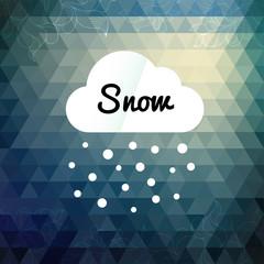 Retro styled winter cloud design card