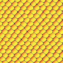 Orange and yellow seamless honeycombs texture